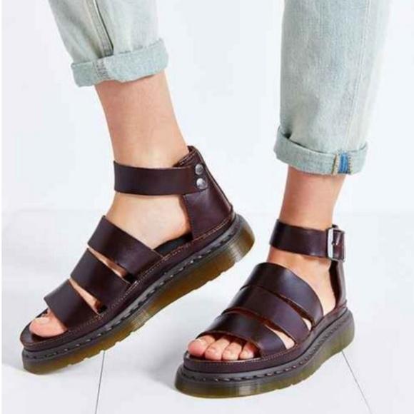 5b456e6ee4 Dr. Martens Shoes - Dr. Martens Clarissa Platform Brown Leather Sandal